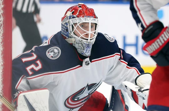 With a 2.87 goals-against average and .906 save percentage, Blue Jackets goaltender Sergei Bobrovsky isn't having his best season.