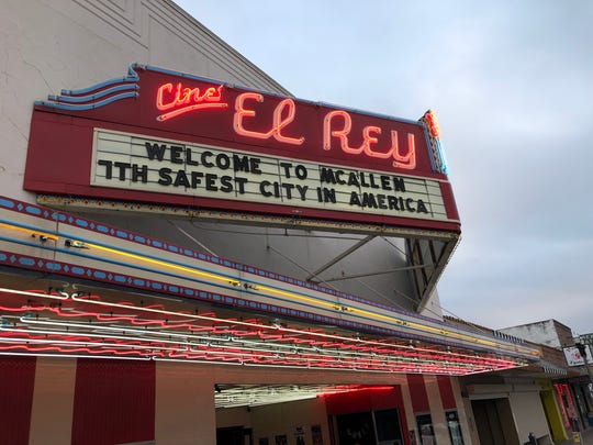 As President Donald Trump prepares to visit the Texas border town of McAllen, the marquee at the Cine El Rey, a 1940s-era theater-turned-music-venue, touts the fact that the city is ranked as one of the safest in the country.