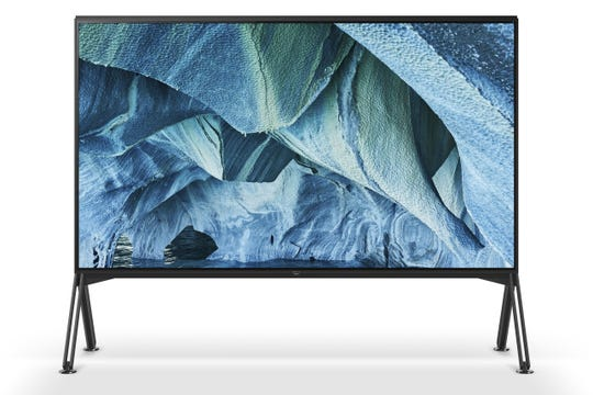 What's up to 98 inches and features 8K resolution? This is Sony's Z(G Master Series television, coming in 2019.
