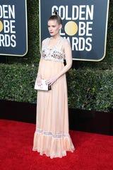 A pregnant Kate Mara at the Golden Globe Awards on Jan. 6, 2019.