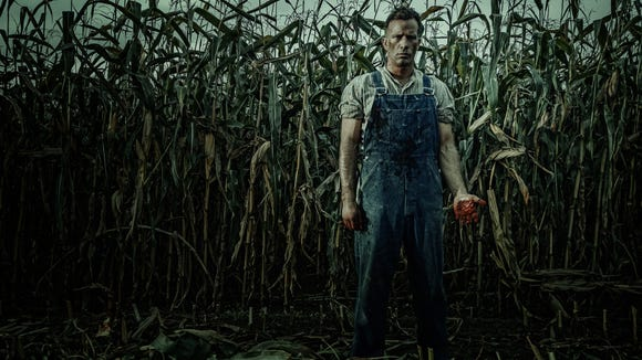 "A Nebraska rancher (Thomas Jane) is cursed when he murders his wife in the Stephen King adaptation ""1922."""