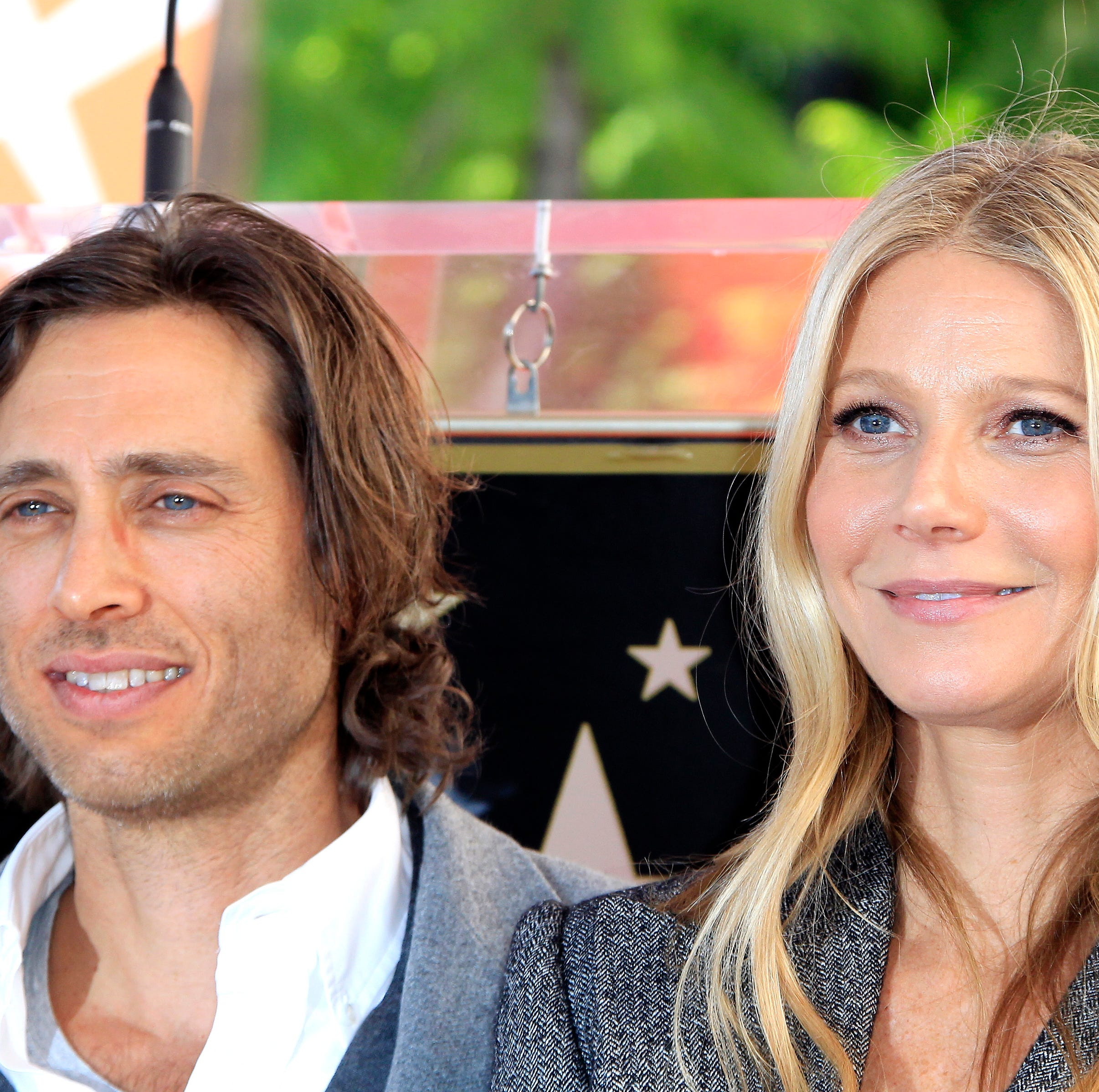 US actress Gwyneth Paltrow (R) and husband US director Brad Falchuk (L) during a ceremony where US screenwriter, television producer, director Ryan Murphy receives the 2653rd star on the Hollywood Walk of Fame in Hollywood, California, USA 04 December 2018.