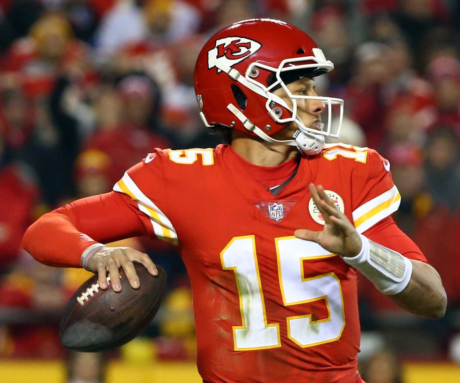 Patrick Mahomes led the NFL with 50 touchdown passes this season.