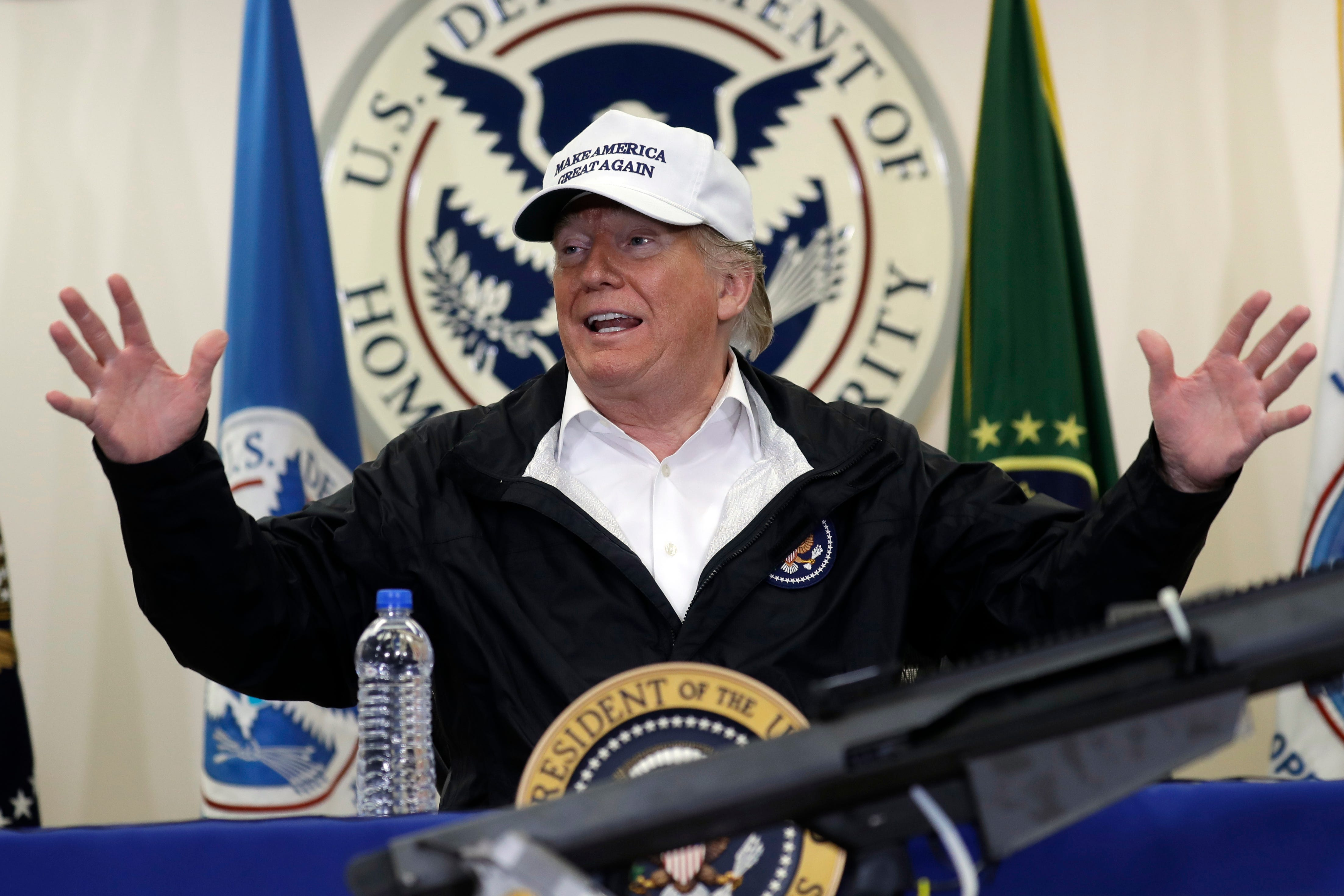 What President Trump said at the border