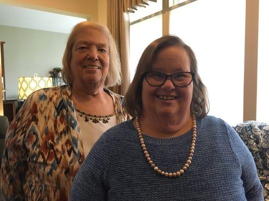 Joyce Kaiser (left) with her daughter Debra Kaiser