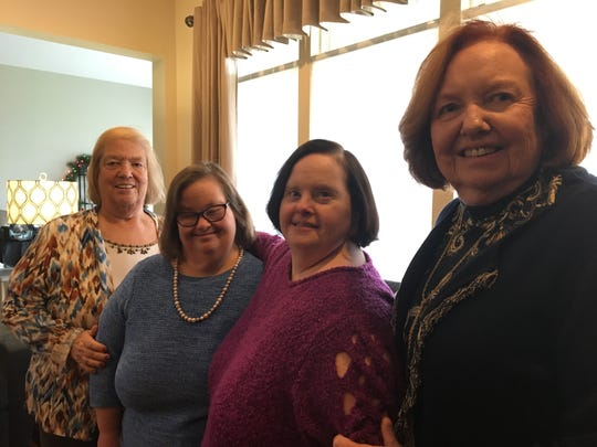 Left to right: Joyce Kaiser, Deb Kaiser, Michelle Murphy and Leone Murphy in the Murphys' Farmingdale home.
