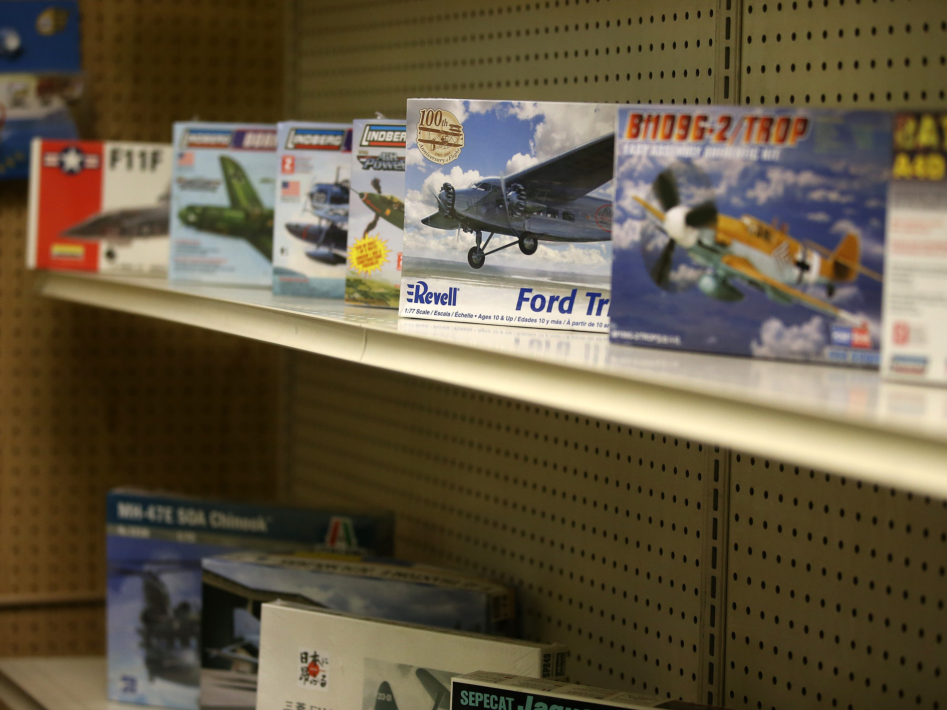 Frank Gustafson, owner of Jackson Hobby Shop, talks about retiring and closing after 50 years at Jackson Hobby Shop in Jackson, NJ Friday January 11, 2019. Model airplanes line the shelves.