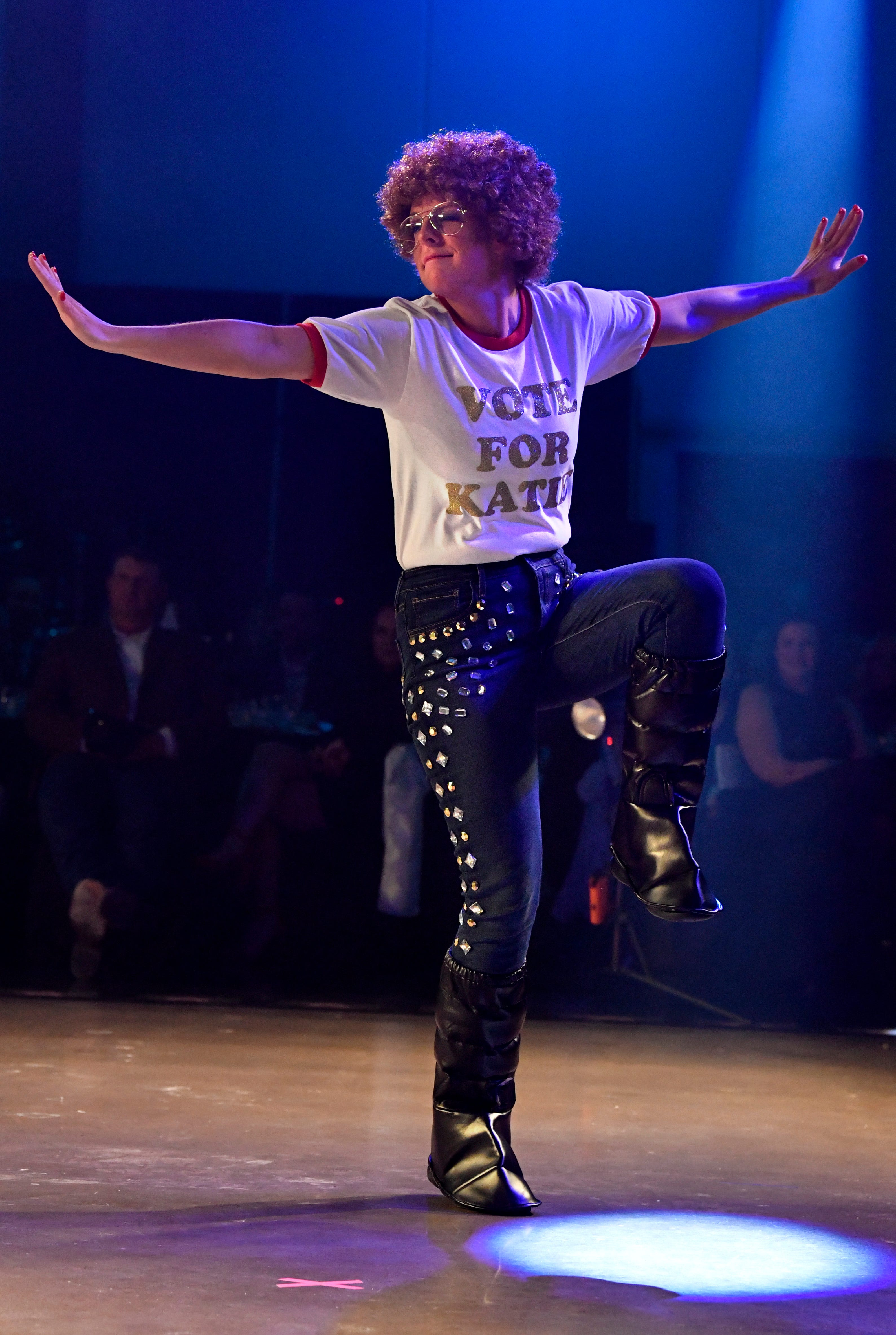 Katie Gloyna performs a Napoleon Dynamite-themed dance during Thursday's Dancing with the Abilene Stars benefit. Held at the Abilene Convention Center, the contest benefited Hendrick Home for Children and brought in a record-breaking $471,000.