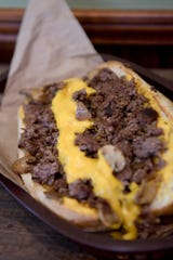 The cheesesteak at Ziggy's Bakery & Deli is made with onions and mushrooms and choice of cheese including cheese wiz.