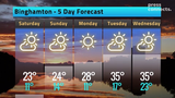 See the latest weather conditions for Binghamton, NY, plus a five-day forecast for the region.