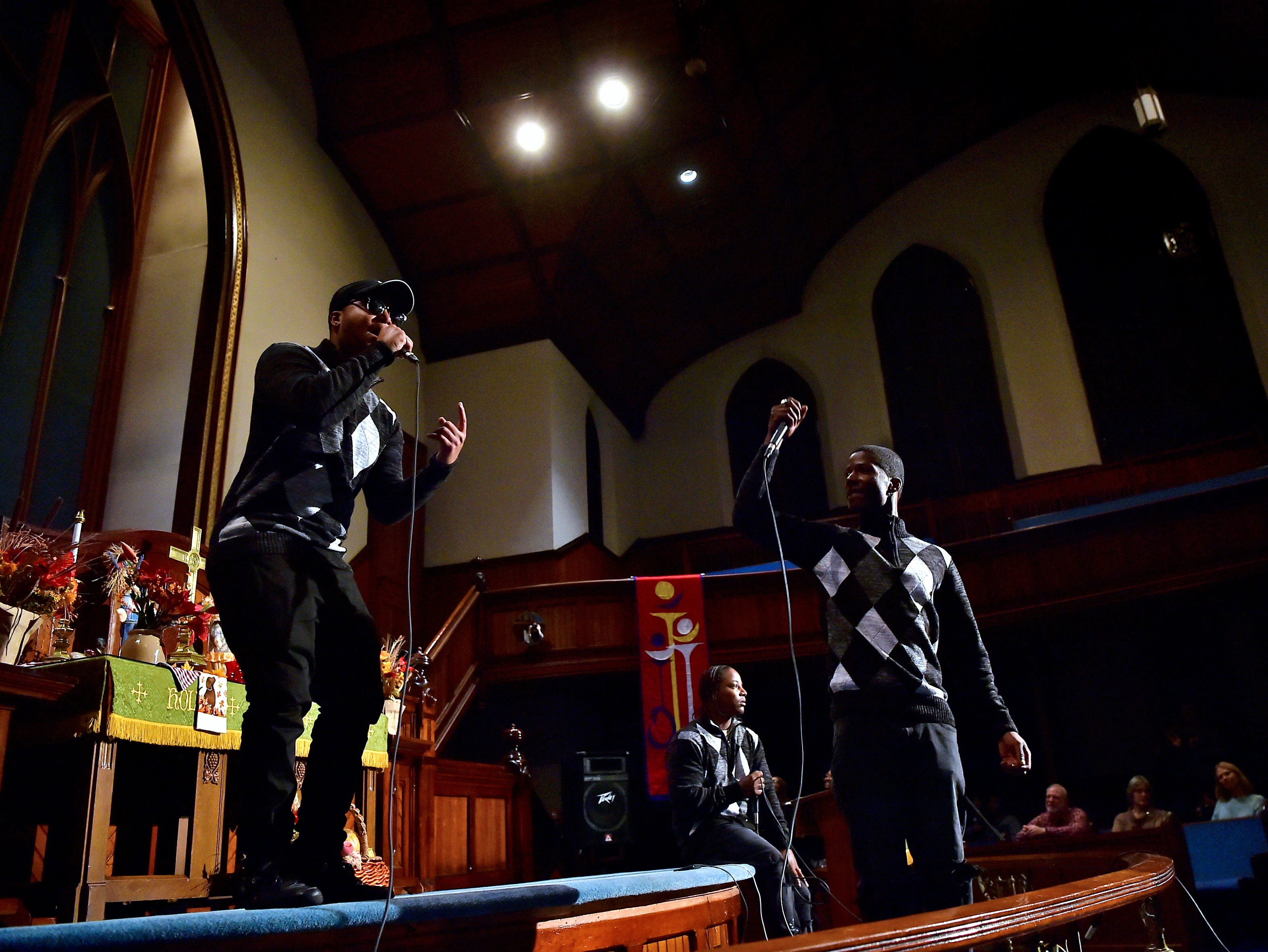Brothers Over All perform during ONE ACCORD at Tabernacle United Methodist Church in Binghamton on October 26, 2018.