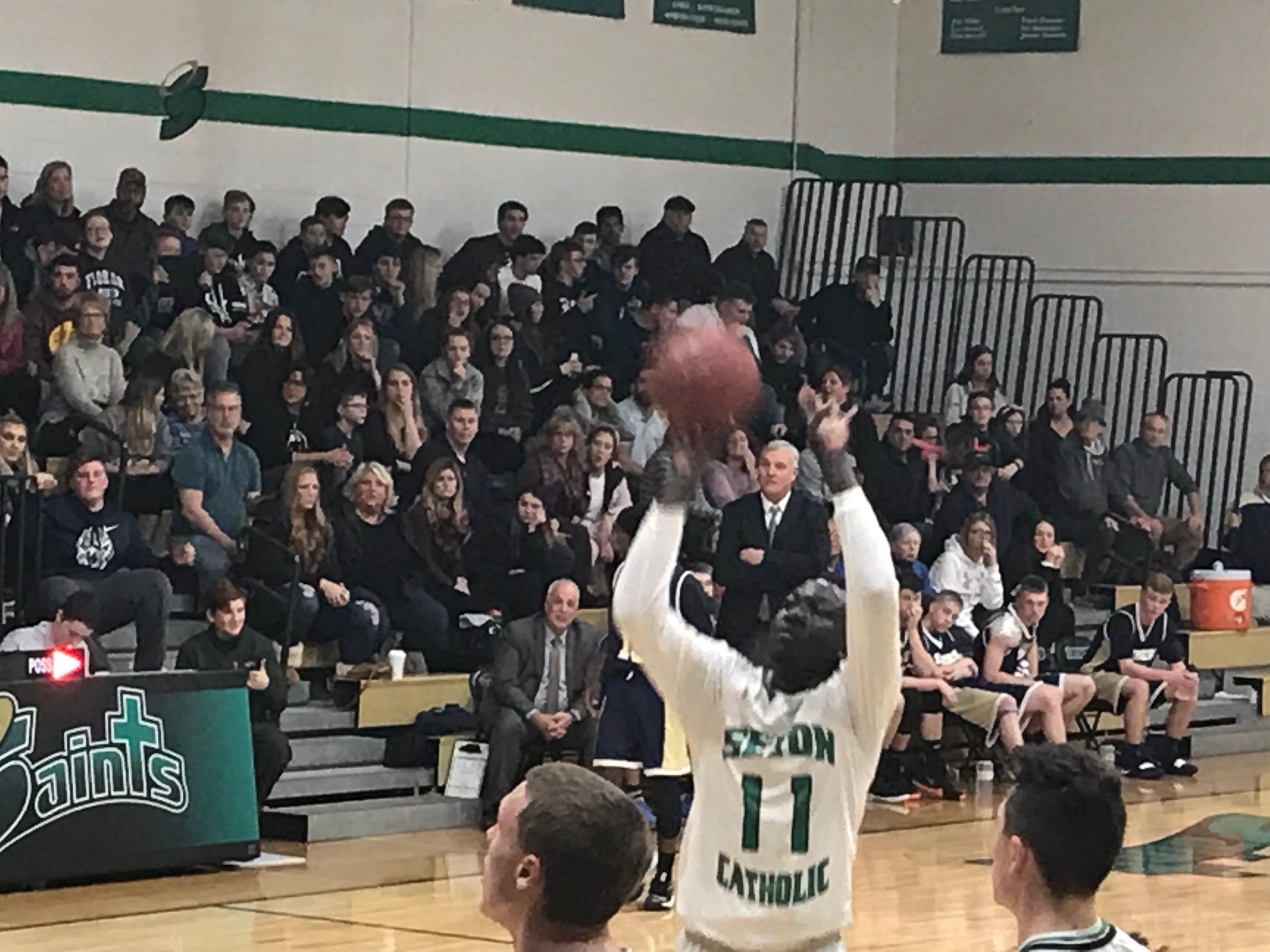 Boys Basketball: Seton CC pulls away from Sabers