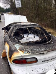A 70-year-old man escaped a burning car on Thursday, Jan. 10, 2019, on Highway 303 in Silverdale with the help of passers-by who fire officials say may have saved his life.