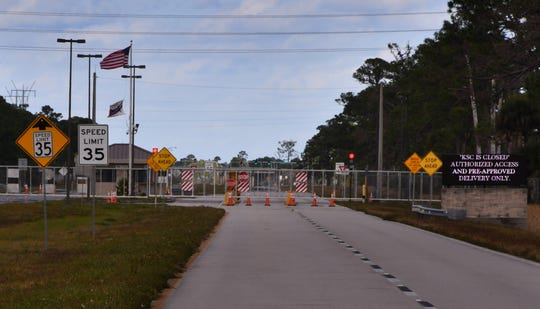The southern entrance to Kennedy Space Center, on State Road 3, is remains closed to employees and visitors due to the partial government shutdown. The main west entrance on State Road 405 / NASA Parkway, however, is open 24 hours a day.