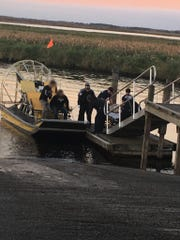 Brevard County Fire Rescue crews responded Jan. 10, 2019, to a reported airboat crash that injured three near the Lone Cabbage Fish Camp west of Cocoa.