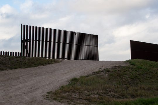 Border fencing near the U.S-Mexico border in Penitas, Tx on Friday, Jan. 11, 2019.