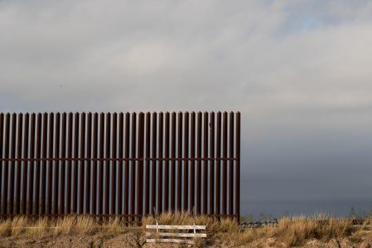 Border fencing near the U.S-Mexico border in Penitas, Tx on Friday, Jan. 11, 2019.