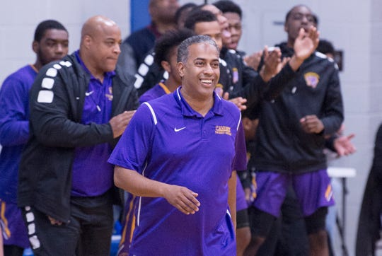 Camden High School boys basketball coach Vic Carstarphen, center, is running for a seat on city council, according to Democratic leaders.