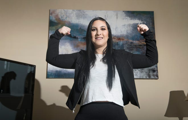 Deptford bodybuilder Alyssa Coffey developed radiation necrosis after receiving treatment for a brain arteriovenous malformation. While part of her brain was dying, she developed constant, debilitating headaches that continued to worsen despite the best known treatments, and surgery wasn't an option. 