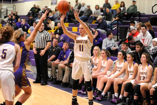 Unioto girls basketball's Emily Coleman is giving the Shermans another scoring punch as she is averaging 17.6 points in their last five games.