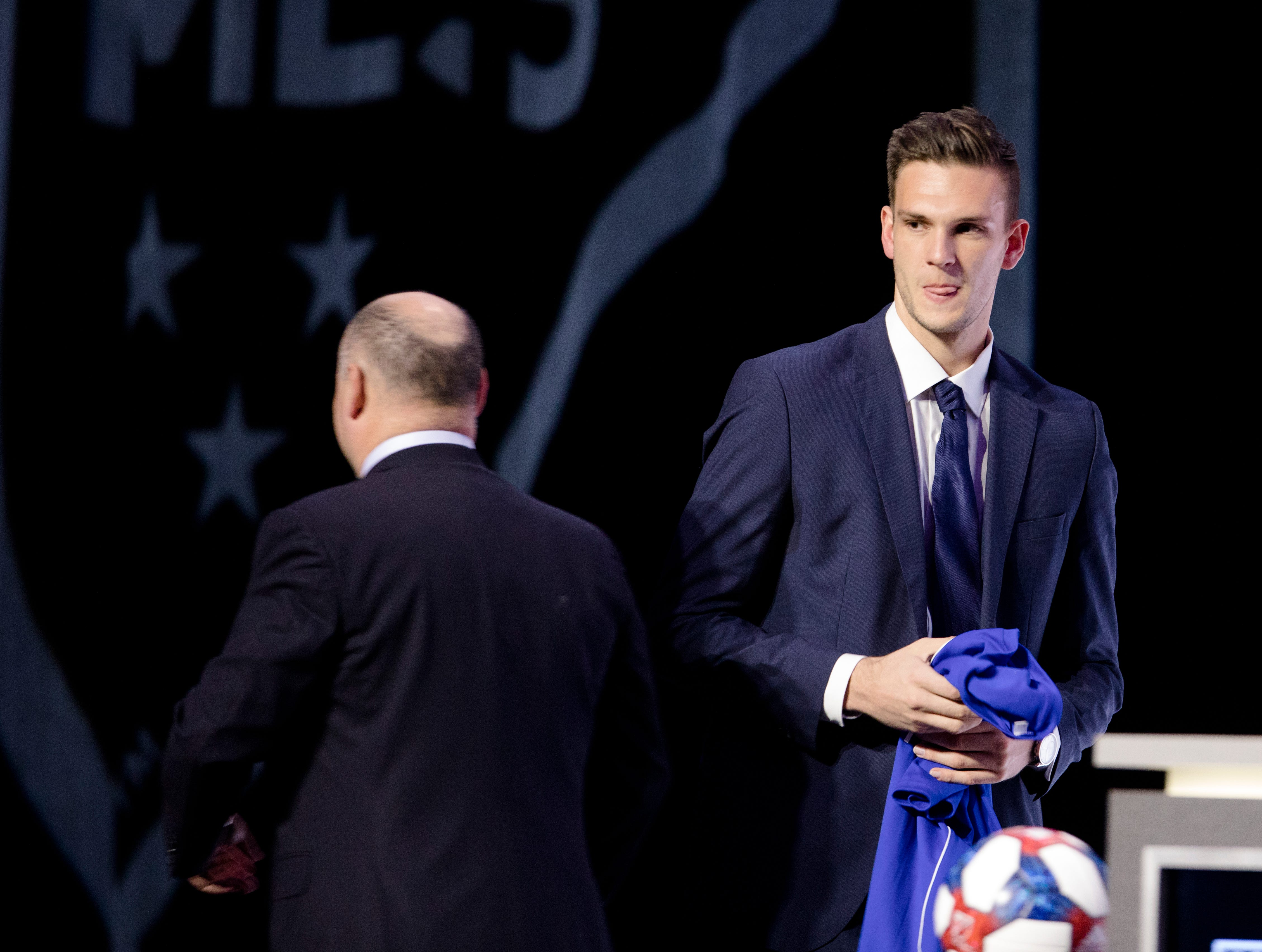 Ben Lundt speaks after being drafted by FC Cincinnati as the second round of the MLS Superdraft on Friday, Jan. 11, 2019 in Chicago, Illinois.