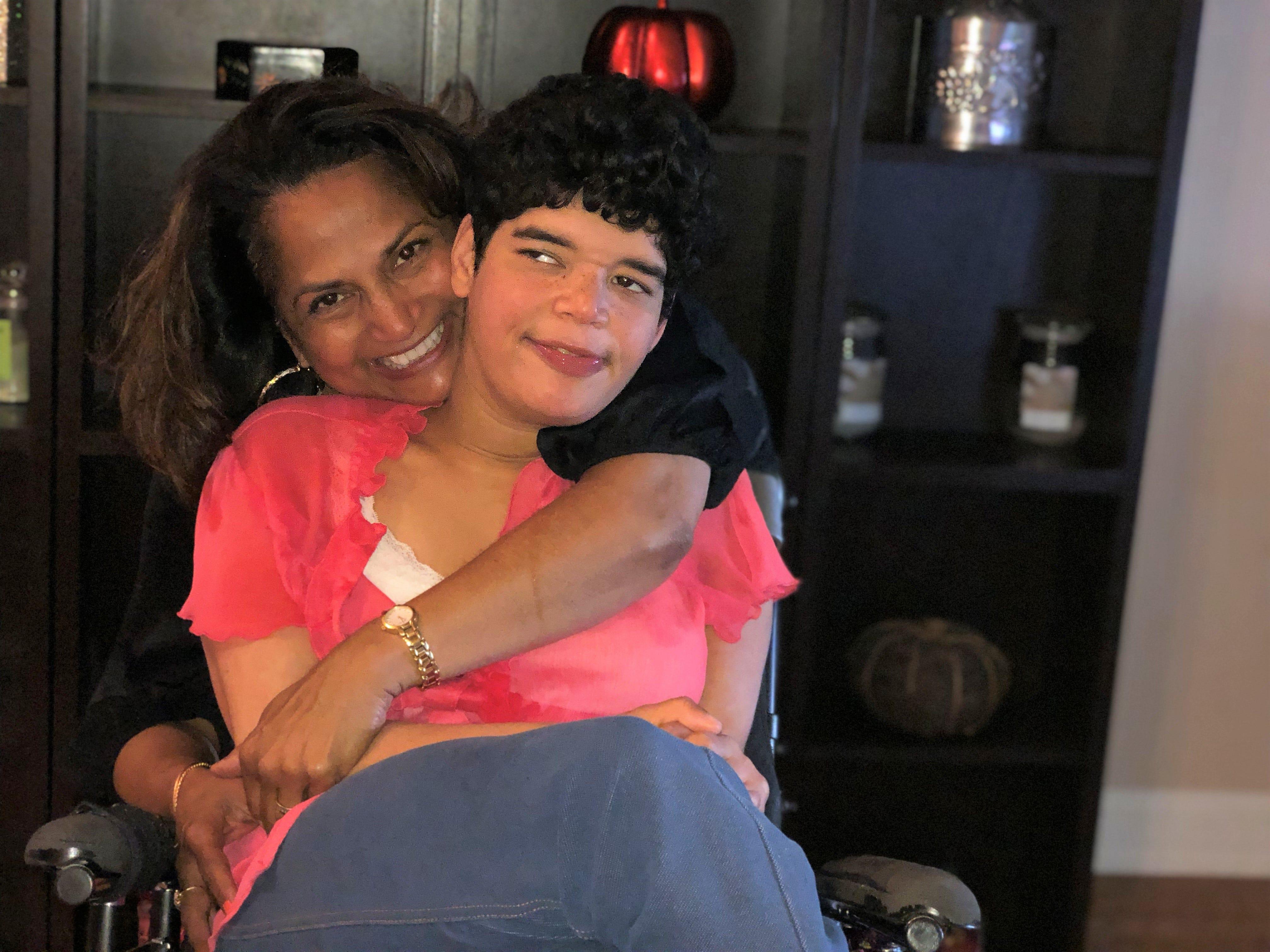 Lorraine D'Sylva-Lee and her daughter Aaliya.
