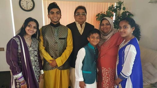 The late Masood Imran of the Avenel section of Woodbridge and his family.