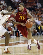Iowa State's Royce White drives past Texas' Sheldon McClellan during   a 2012 game in Austin, Texas. White scored 15 points and grabbed 15 rebounds. ERIC GAY/ASSOCIATED PRESS Iowa State's Royce White (30) drives past Texas' Sheldon McClellan (1) during the first half of an NCAA college basketball game, Tuesday, Jan. 24, 2012, in Austin, Texas. (AP Photo/Eric Gay)