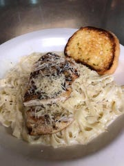 Chicken fettuccine Alfredo from Five19's Friday night pasta specials.