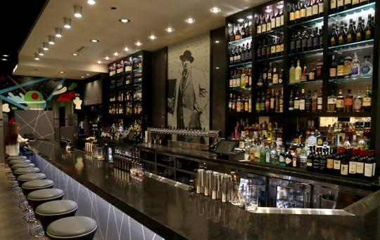 The bar area inside Mootz.