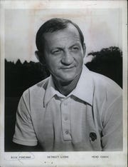 Rick Forzano went 15-17 as coach of the Detroit Lions before he was replaced four games into the 1976 season by Tommy Hudspeth.