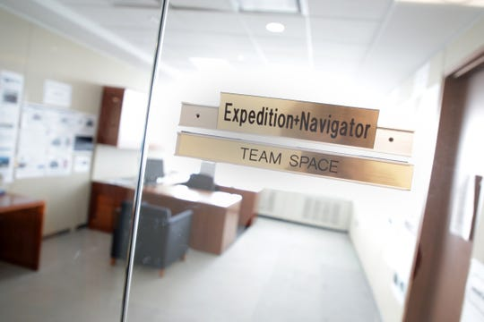 Entrance to the Expedition and Navigator team space at Ford World Headquarters in Dearborn.