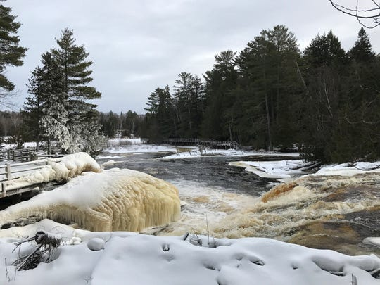 Lower falls at Tahquamenon Falls State Park