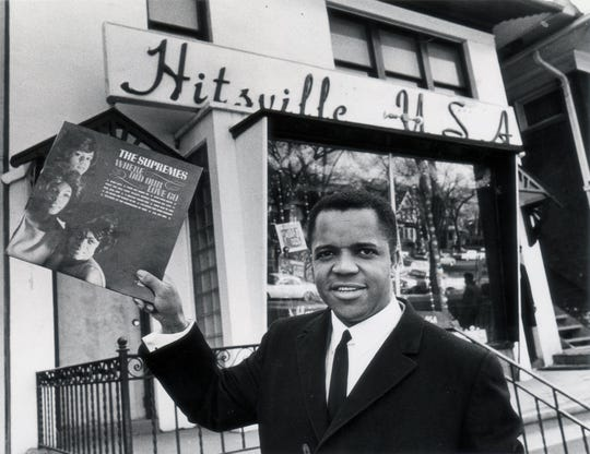 Berry Gordy Jr. outside the Motown Records headquarters on West Grand Boulevard in Detroit in 1964. Photo by Tony Spina/Chief Photographer, Detroit Free Press