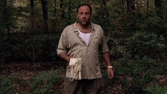 "James Gandolfini in ""The Sopranos."" (HBO)"