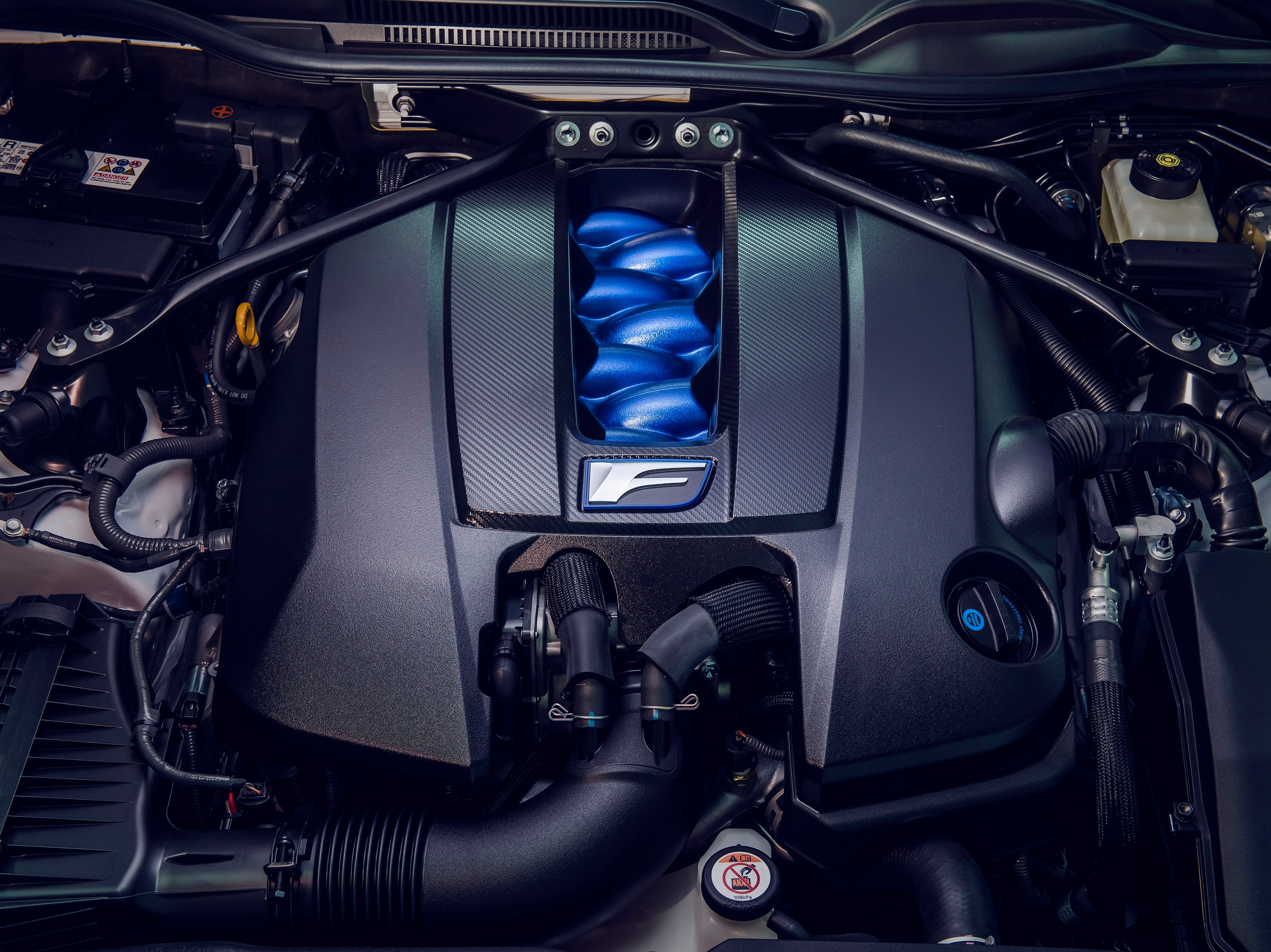 The Track Edition uses the same 472hp, normally aspirated 5.0- liter V8 found in the 2020 RC F. Combined with the new electronic launch control system, the RC F Track Edition is capable of launching from 0-to-60 mph in 3.96 seconds.