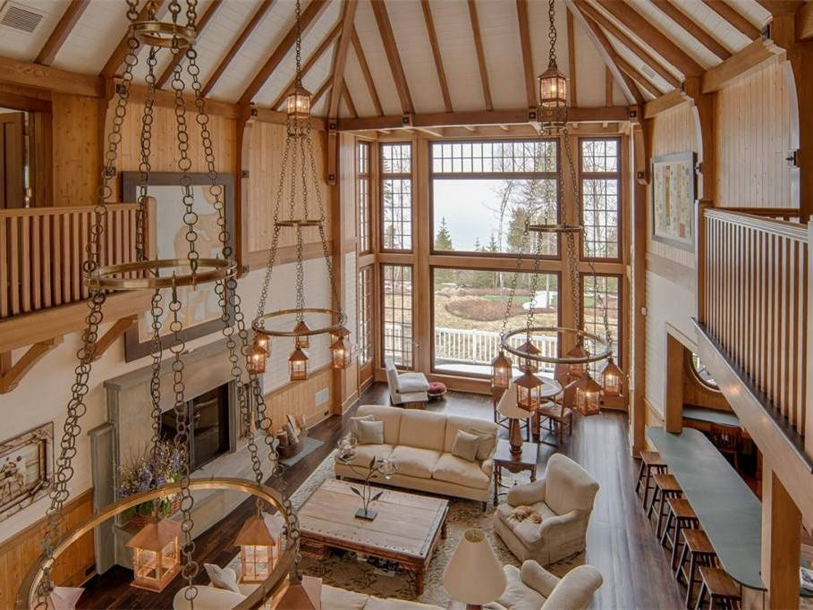 "The home's widow's walk, a railed platform on the second floor, offers ""a breathtaking view of the lake and sunsets,"" said Chris Etienne of Harbor Sotheby's International Realty in Bay Harbor."