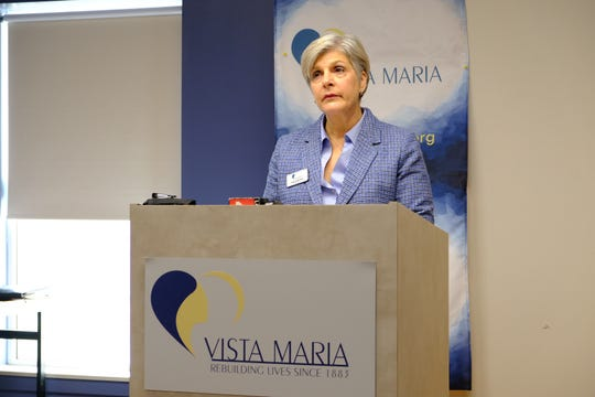 Vista Maria President Angela Aufdemberge announces plans to build a new building to aid 16 girls and an emergency wing to open in 2020. Jan. 11, 2019 at Vista Maria in Dearborn Heights.