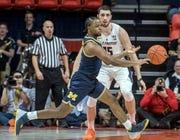 Michigan guard Zavier Simpson's 3.29 assist-turnover ratio leads the Big Ten.