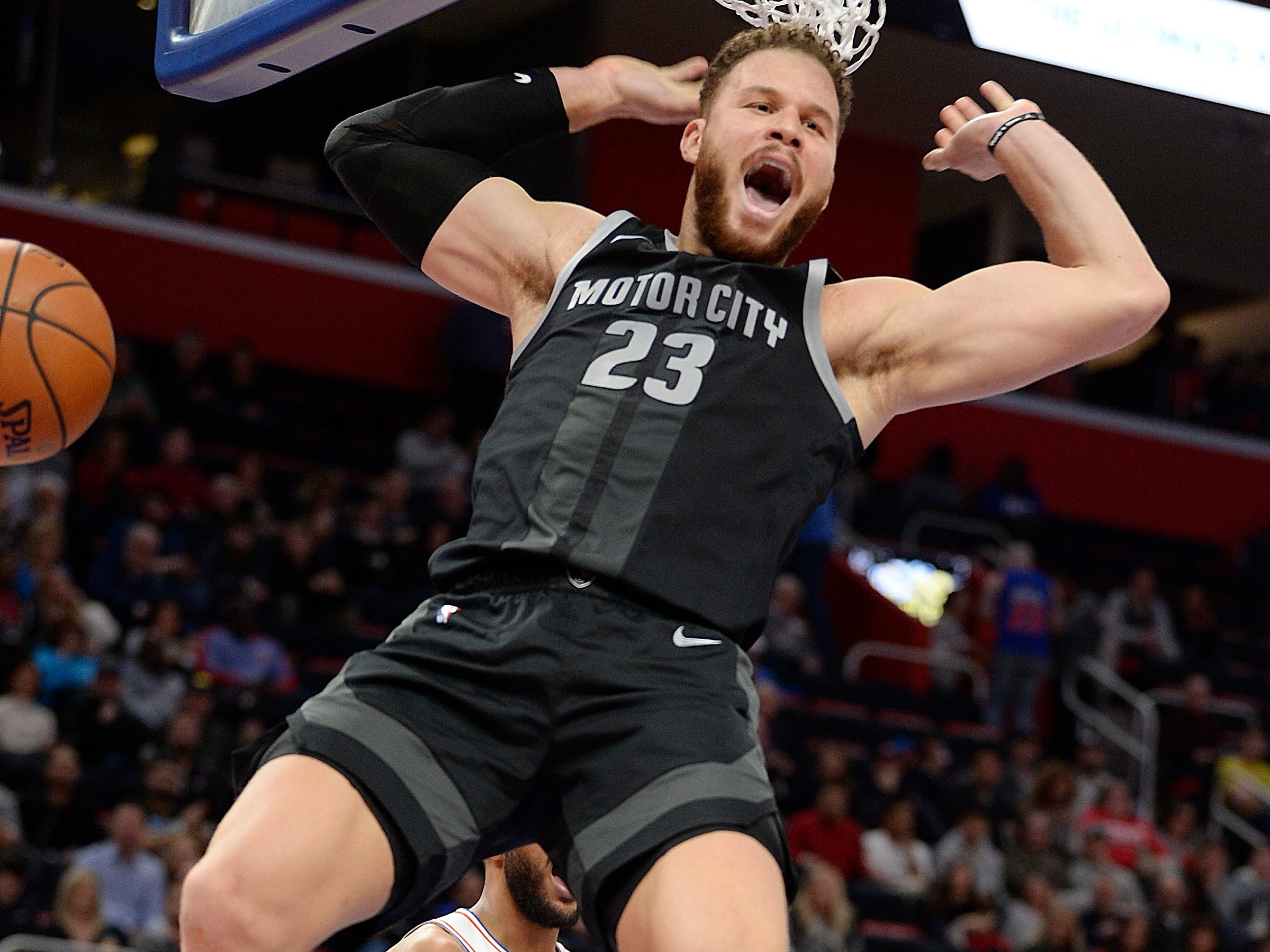 FORWARDS -- Blake Griffin -- Stats: 25.6 pts., 8.3 rebs., 5.3 assts., 36% 3FG in 39 games. Age: 29. The rumors of his career being on the decline were slightly exaggerated. Griffin is experiencing a resurgent season, with the best year of his career. He's evolved his game to become a point-power forward and has handled the increase in workload without issue. Grade: A-