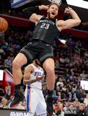 Pistons forward Blake Griffin is averaging 25.1 points, 8.3 rebounds and 5.3 assists.