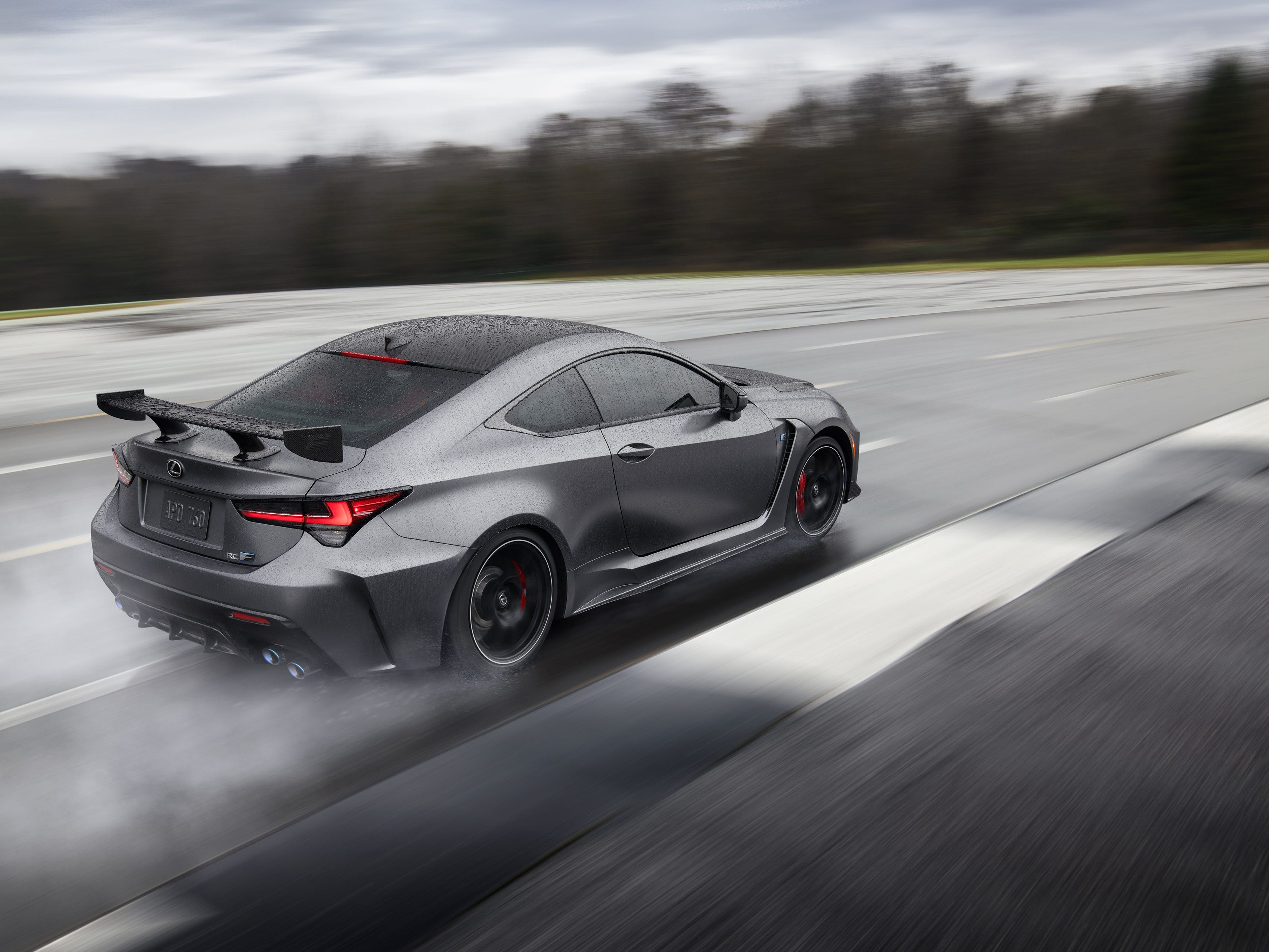 """""""The RC F now includes electronic launch control as standard. With a push of the button on the console, the system automatically adjusts the traction and throttle control for maximum acceleration from a stop. All the driver has to do is press and hold the brake pedal, engage the system, floor the accelerator to bring up the engine speed and release the brake. Using the system results in a 0-to-60mph time of just 4.2 seconds."""""""