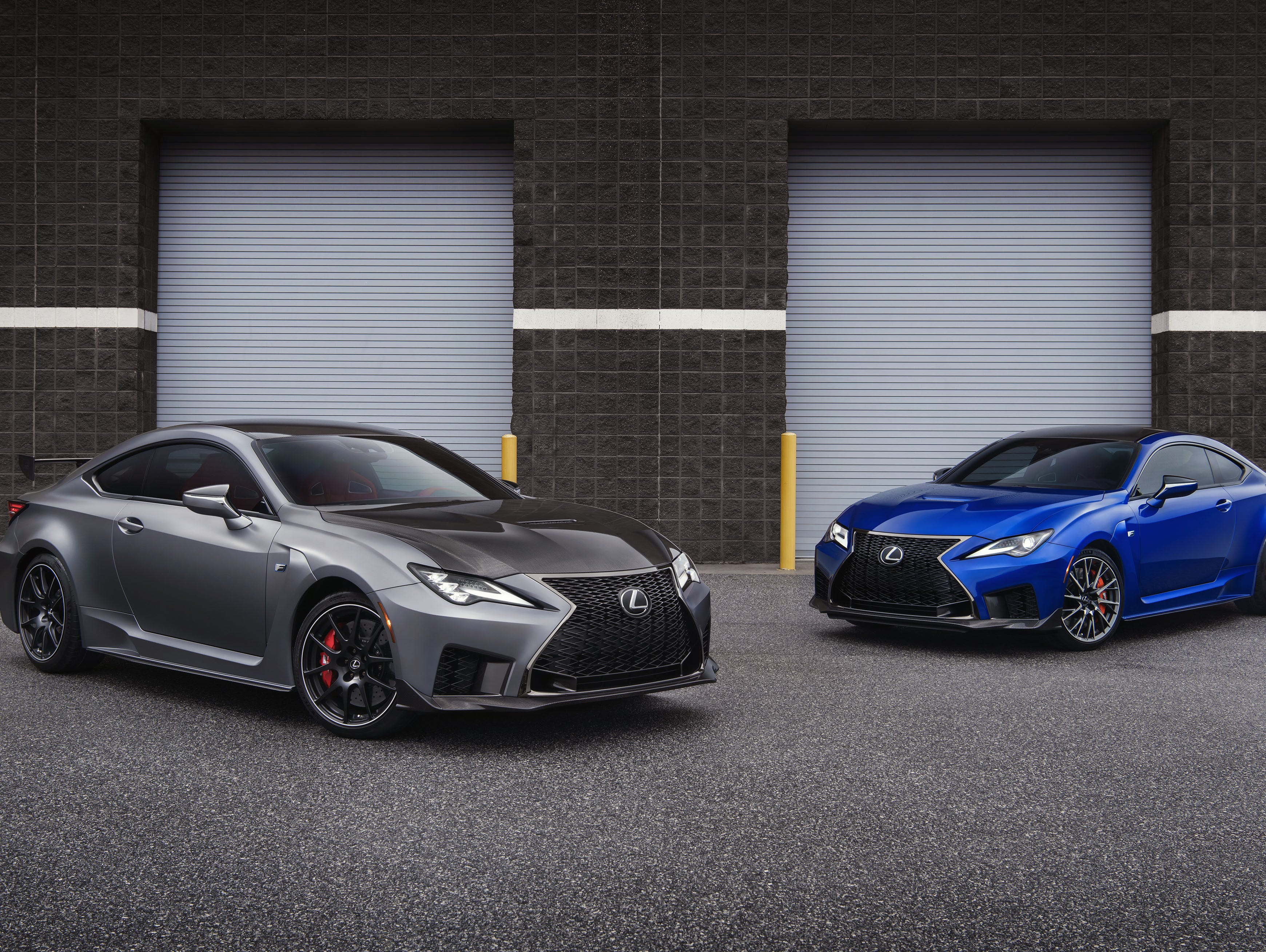 Both the 2020 Lexus RC F Track Edition, left, and the RC F will start production in the second quarter of 2019.