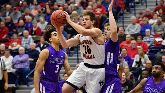 Alex Stein scored a game-high 25 points as USI defeated Truman State 80-65 on Thursday evening.