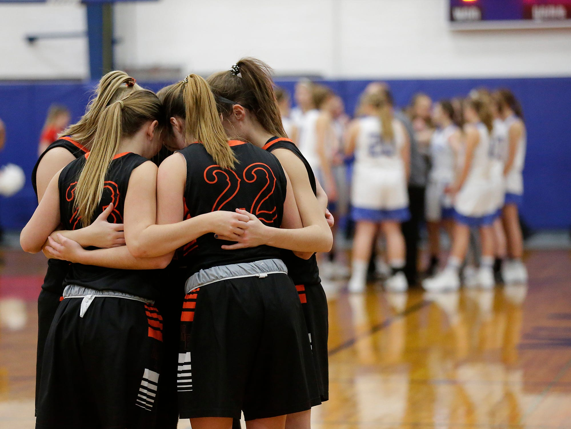 Winnebago Lutheran Academy and North Fond du Lac High School girls basketball get ready to square off January 10, 2019 in Fond du Lac. Doug Raflik/USA TODAY NETWORK-Wisconsin