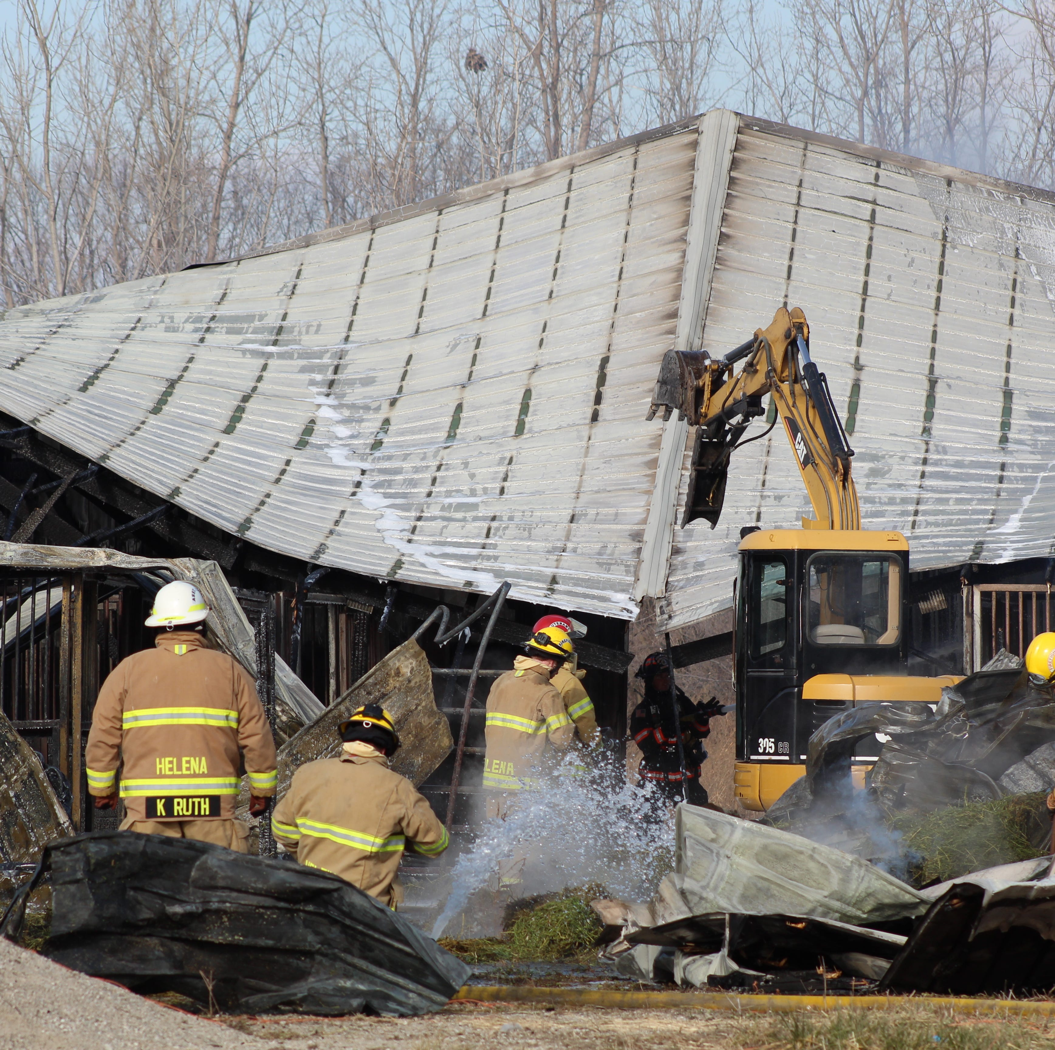2 ponies die in barn fire on County Road 79