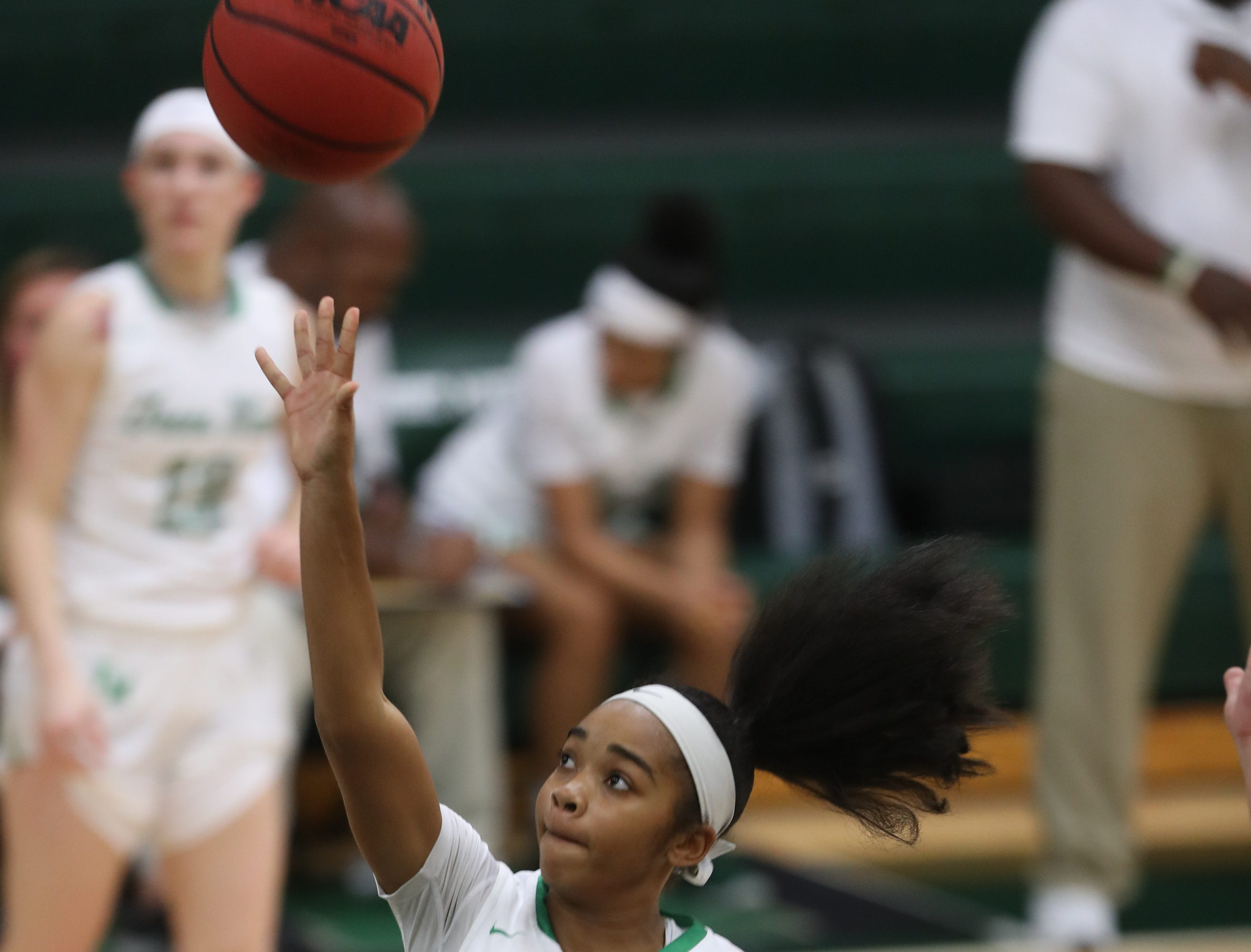 Game action between Gulf Coast High School and Fort Myers on Thursday in Fort Myers. Gulf Coast beat Fort Myers 71-67.