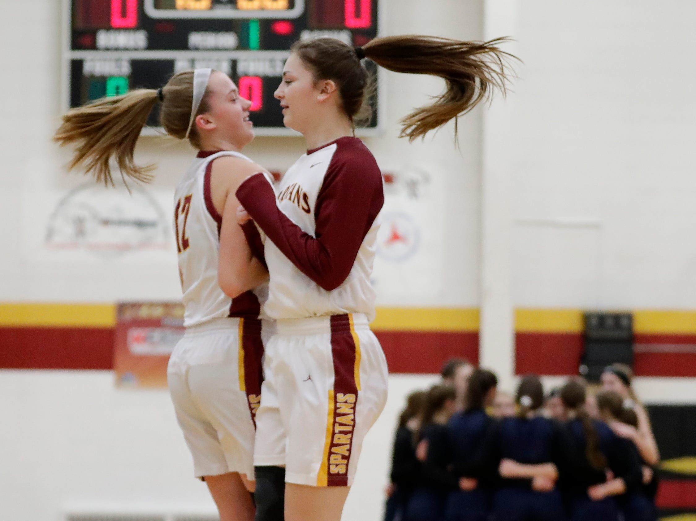 Luxemburg-Casco's Jordan Bukouricz (12) takes the floor to face Waupaca in a girls basketball game at Luxemburg-Casco high school on Thursday, January 10, 2019 in Luxemburg, Wis.