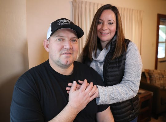 Chad and Cheyna Kary of Georgia's House respite center inside the home on Woodrow Way Monday, January 7, 2019 in Allouez, Wis.