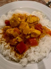 Kim Eades found an easy recipe online for butter chicken. She changed up a few things to make it her own.